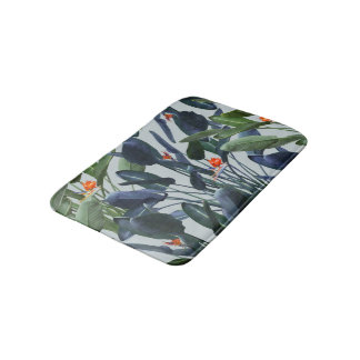 Bird of Paradise Pattern V2 bath mate Bath Mats