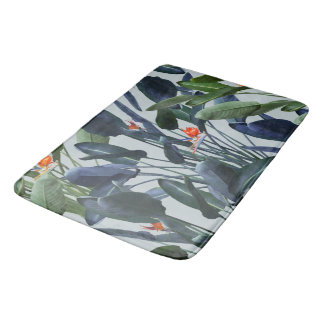 Bird of Paradise Pattern V2 large bath mat Bath Mats