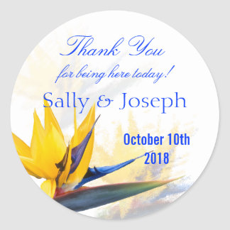 Bird of Paradise Personalized Wedding Favor Label