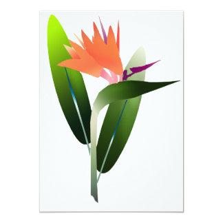 Bird of Paradise Silk Screen 13 Cm X 18 Cm Invitation Card
