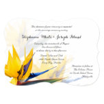 Bird of Paradise Tropical Beach Wedding 13 Cm X 18 Cm Invitation Card