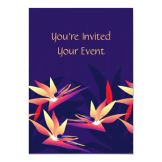 Bird-of Paradise Tropical Floral Invitation