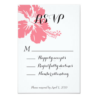 Bird of Paradise Tropical Flower RSVP Card 9 Cm X 13 Cm Invitation Card