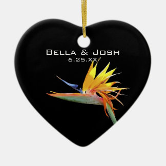Bird of Paradise Wedding Ornament