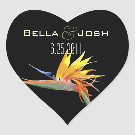 Bird of Paradise Wedding Stickers