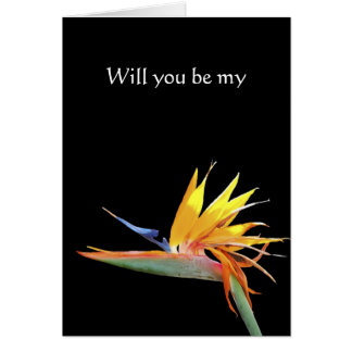 Bird of Paradise Will You Be My Note card