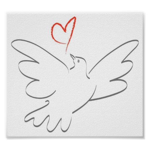 Bird of Peace and Heart Poster