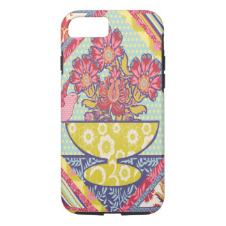 Bird on a bowl with Flowers Phone Case
