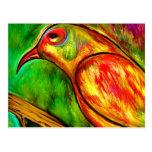 Bird on a branch by rafi talby postcard