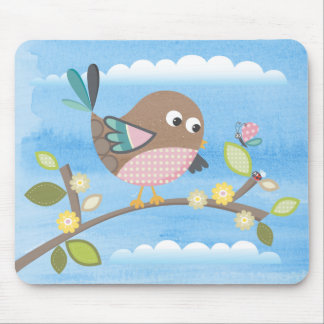 Bird on a Branch Mousepad