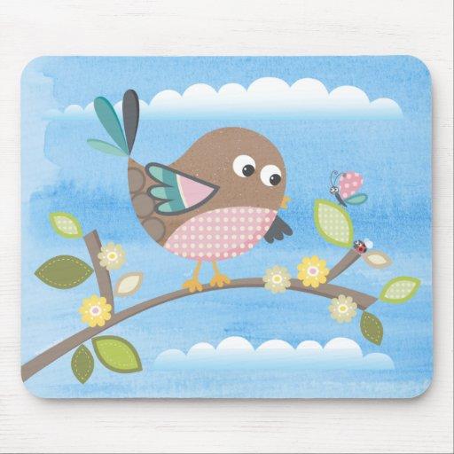 Bird on a Branch Mousepad