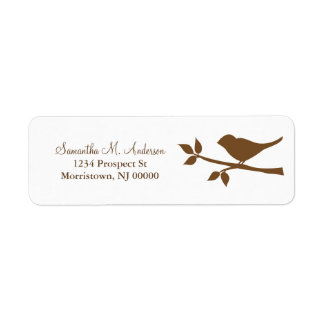 Bird on a Branch Return Address Labels
