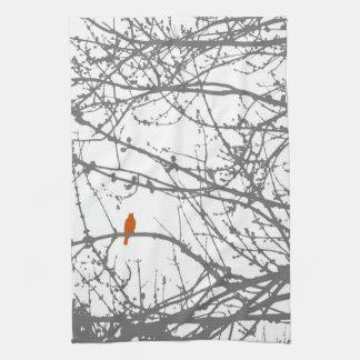 Bird on a Maple Tea Towel