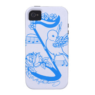 Bird On A Musical Note With Flowers Case-Mate iPhone 4 Case