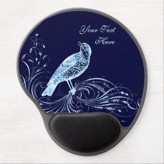 Bird on a Scroll (Blue) Gel Mouse Pad