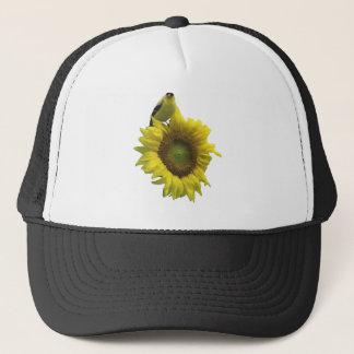 Bird On A Sunflower Trucker Hat