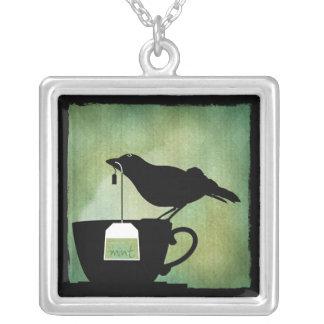 Bird on a Teacup Necklace