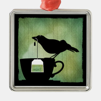 Bird on a Teacup Ornament