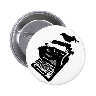 Bird on a Typewriter Button