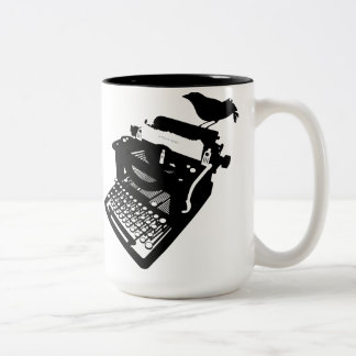 Bird on a Typewriter Mug