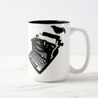 Bird on a Typewriter Mug