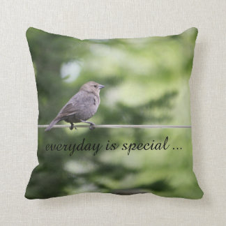 Bird on a wire pillow - everyday is special