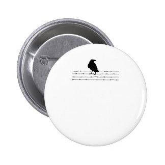 Bird on a wire Tee Pinback Button