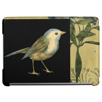 Bird on Black and Vintage Background