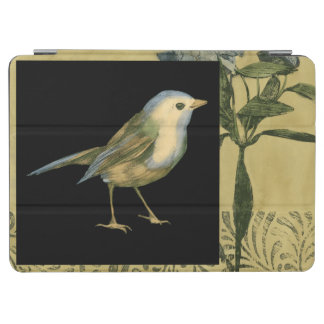 Bird on Black and Vintage Background iPad Air Cover