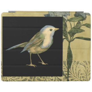 Bird on Black and Vintage Background iPad Cover