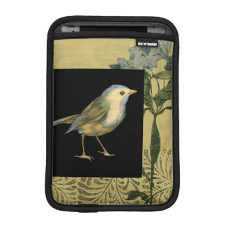 Bird on Black and Vintage Background iPad Mini Sleeve