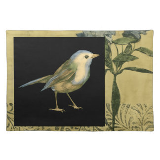 Bird on Black and Vintage Background Placemat