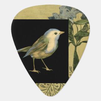 Bird on Black and Vintage Background Plectrum