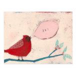 bird on branch card post card