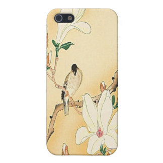 Bird on Magnolia Tree Japanese Woodblock iPhone 4  iPhone 5 Cases
