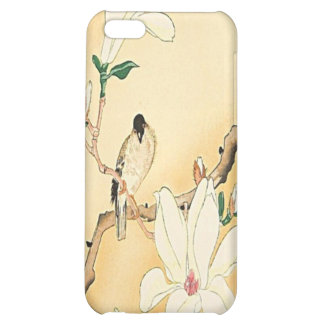 Bird on Magnolia Tree Japanese Woodblock iPhone 4  Cover For iPhone 5C