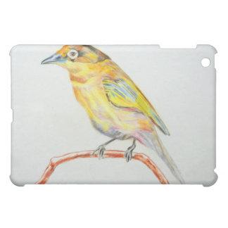 Bird Painting Yellow Exotic Bird IPad Case Vintage