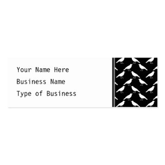 Bird Pattern. Crows in Black and White. Pack Of Skinny Business Cards