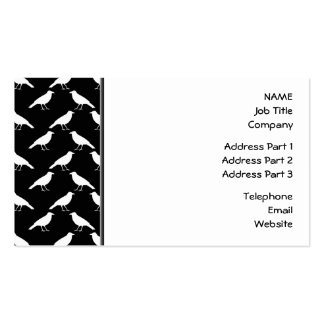 Bird Pattern. Crows in Black and White. Pack Of Standard Business Cards