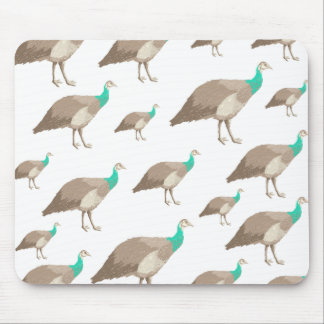 Bird Pattern on White. Mouse Pad