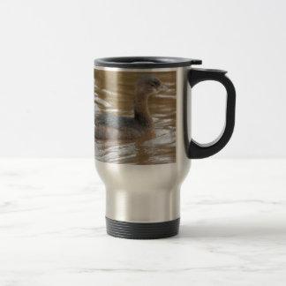 Bird Pied Billed Grebe Nature Stainless Steel Travel Mug
