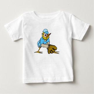 Bird Playing Base Ball Tee Shirts