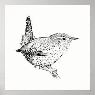 Bird Poster / Wall Art Wren