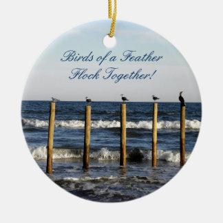 Bird Posts Ornament