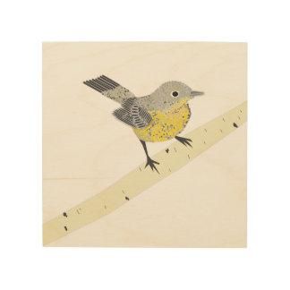 Bird Print On Wood