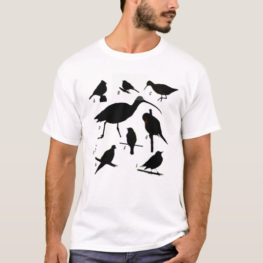 Bird Quiz (answers on back) T-Shirt