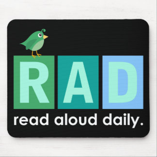 Bird RAD - Read Aloud Daily Reading Gift Mouse Mat