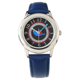 Bird-Red-Heart-Circle_Lace_ Wrist Watch