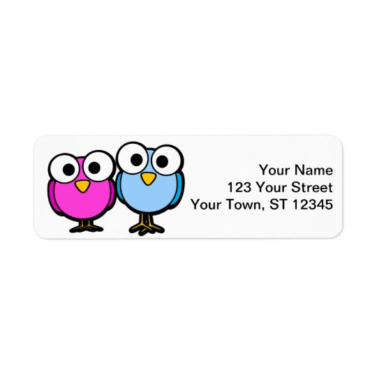 Bird return address stickers - small lables