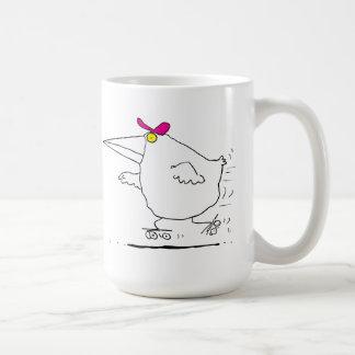 Bird Roller Skating Basic White Mug